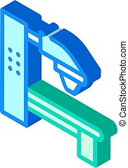 radiation therapy machine isometric icon vector. radiation therapy machine sign. isolated symbol illustration