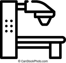 radiation therapy machine line icon vector. radiation therapy machine sign. isolated contour symbol black illustration