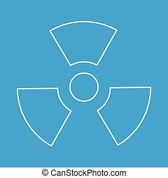 Radiation thin line icon