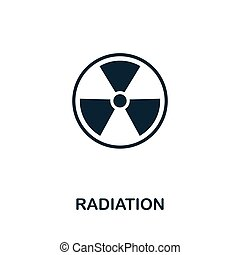Radiation vector icon symbol. Creative sign from biotechnology icons collection. Filled flat Radiation icon for computer and mobile
