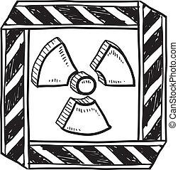 Radiation warning sketch