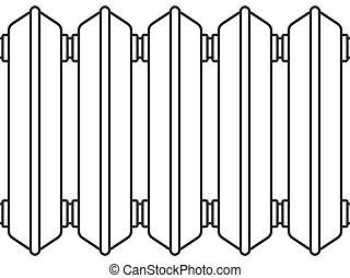 Radiator - Illustration of the radiator elements as seamless...