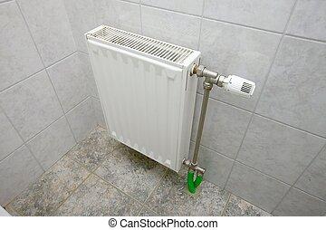 Radiator - Heating radiator in a bathroom