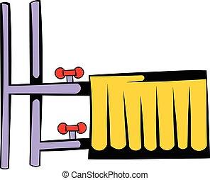 Radiator icon cartoon