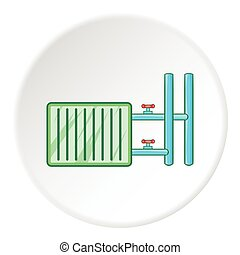 Radiator icon, cartoon style