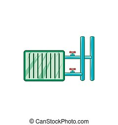 Radiator icon in cartoon style