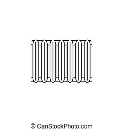 Radiator icon. vector illustration black on white background