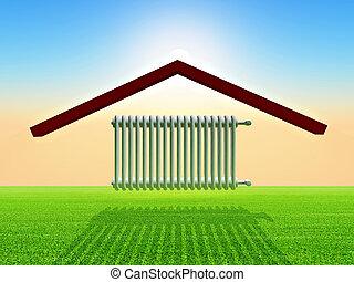 Radiator - illustration of home warming