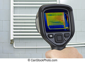 Radiator Infrared Measuring