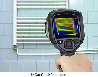 Radiator Infrared - Thermal Image of Heating Element