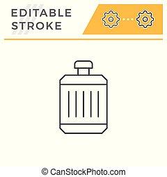 Radiator line icon isolated on white. Editable stroke....