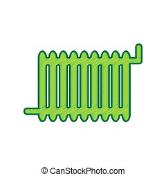 Radiator sign. Vector. Lemon scribble icon on white background. Isolated