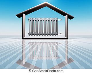 radiator - illustration of house warming