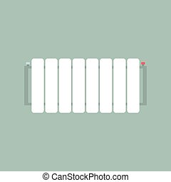 Radiator - The radiator on the wall. Vector illustration
