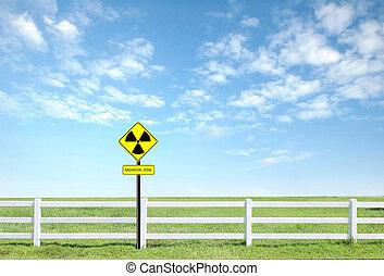 radiazione, simbolo avvertimento