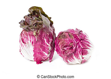 Radicchio isolated on white.