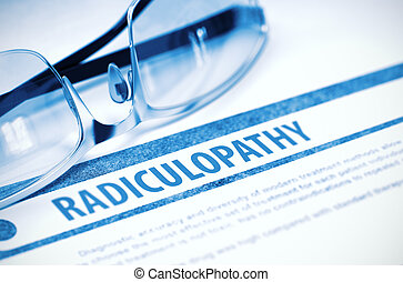 Radiculopathy. Medicine. 3D Illustration. - Radiculopathy -...
