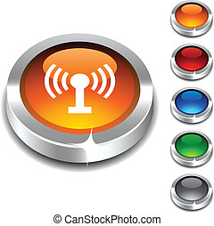Radio 3d button. - Radio 3d button set. Vector illustration....