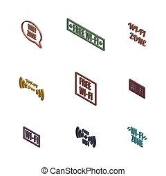 radio, 3d, conjunto, iconos, illustration., vector