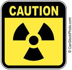 radio active logo on yellow caution sign