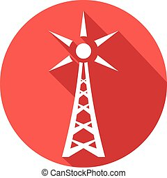 radio antenna flat icon