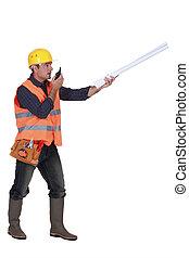radio, architecte, plans, récepteur