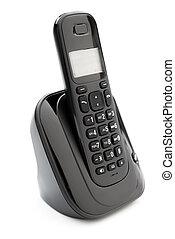 radio, blanco, teléfono negro, plano de fondo