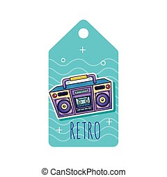 radio boombox tag