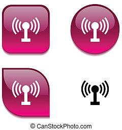 radio, brillante, button.