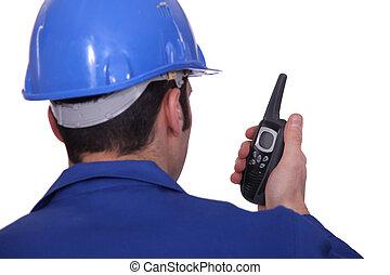 radio, budowlaniec, umiejscawiać