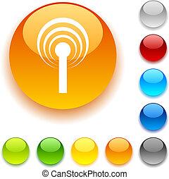 Radio button. - Radio shiny button. Vector illustration.