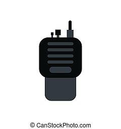 radio communicator portable isolated icon