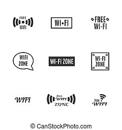 radio, conjunto, iconos, illustration., vector