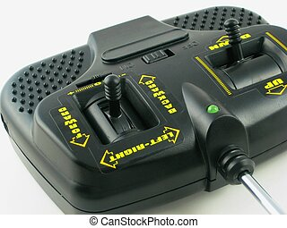 Radio control system for a toy airplane