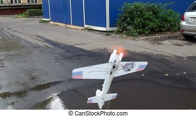 radio-controlled, avion modèle