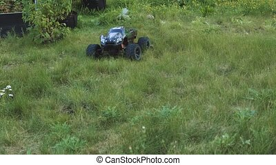 Radio controlled model cars . Toys with remote control. Free...