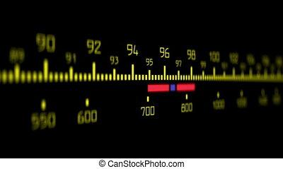 Radio Dial Retro Style Radio