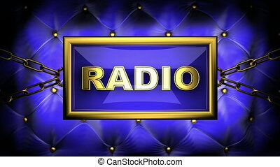 radio  on velvet background