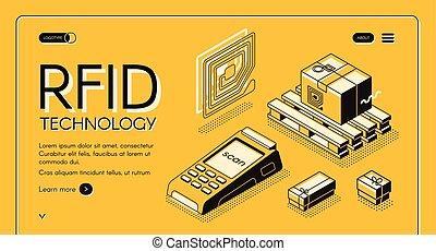 Radio-frequency identification vector web banner