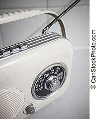 radio, gammal,  retro