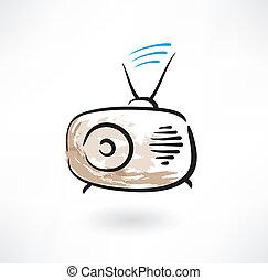 radio grunge icon
