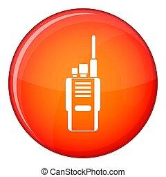 Radio icon, flat style