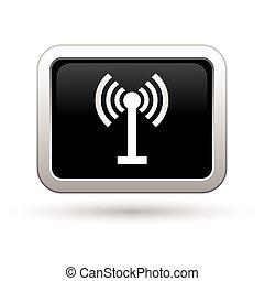 radio, icon., illustration, vektor