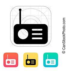 Radio icon. Vector illustration.
