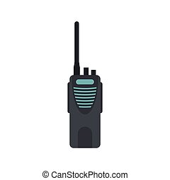 Radio icon in flat style