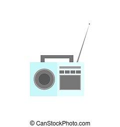 Radio. Icon on isolated background