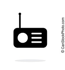 Radio icon on white background.