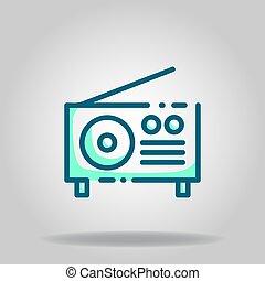 radio icon or logo in  twotone - Logo or symbol of radio ...