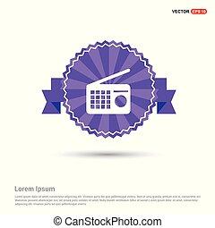 Radio icon - Purple Ribbon banner