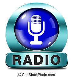 radio icon - radio live stream on air Listen music song ...
